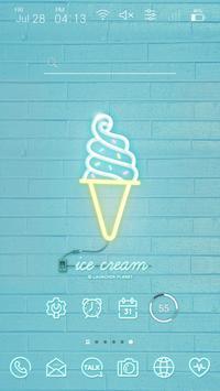 Simple Mint Neon Launcher theme apk screenshot