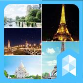 Travel to paris, France Launcher Multi theme icon