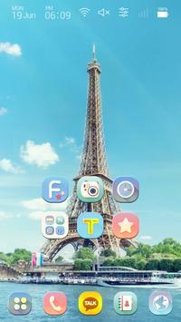 Travel to paris, France Launcher Multi theme poster