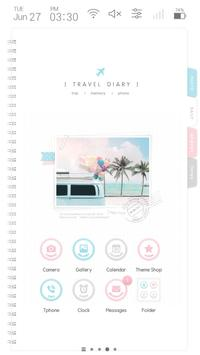 Emotion Travel diary Launcher theme poster