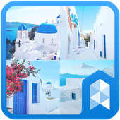 Travel to santorini Launcher theme icon