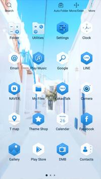 Travel to santorini Launcher theme apk screenshot
