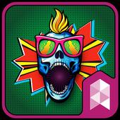 Punky Skull Launcher theme icon