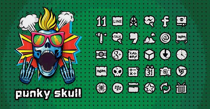Punky Skull Launcher theme poster
