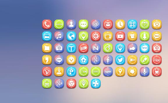 Colorful Glass Beads Icon Pack poster