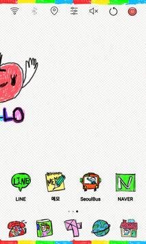Scribble launcher theme apk screenshot