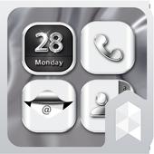 HD Silver Wallpaper theme icon