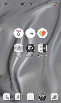 HD Silver Wallpaper theme apk screenshot