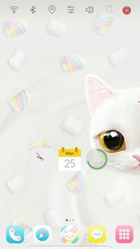 Marshmallow Sugar Cat theme poster