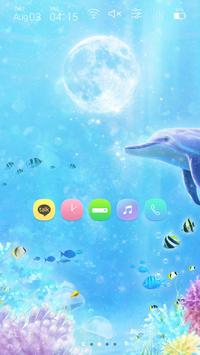 Moon and Under the Sea Widgetpack Launcher theme poster