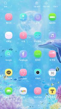Moon and Under the Sea Widgetpack Launcher theme apk screenshot