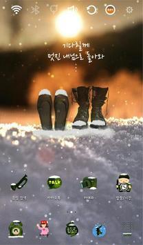 Waiting for you Winter Theme apk screenshot