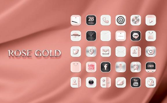 HD Rose Gold Widgetpack theme poster