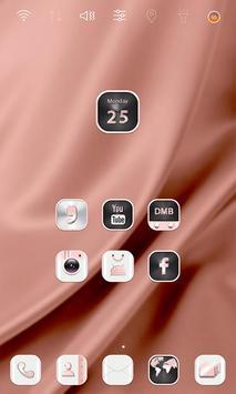 HD Rose Gold Widgetpack theme apk screenshot