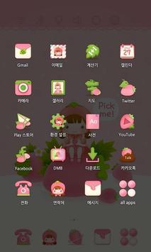 StrawBerry Fairy theme apk screenshot