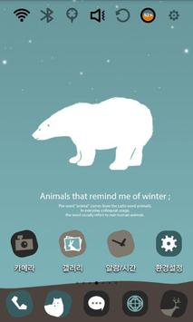 Cute Polar Bear Theme screenshot 1