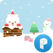 Cute Santa Launcher Theme icon