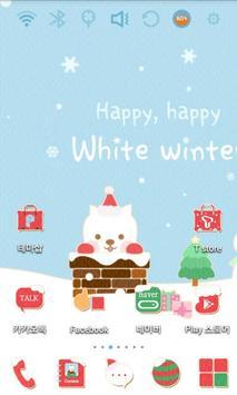 Cute Santa Launcher Theme poster