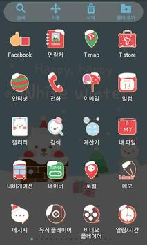 Cute Santa Launcher Theme screenshot 3