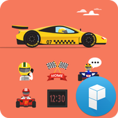 Speed Racing Car Theme icon