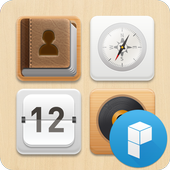 Wood Therapy Launcher Theme icon