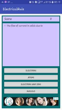 Electrical Quiz poster