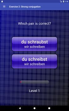 German Verbs/Present tense apk screenshot