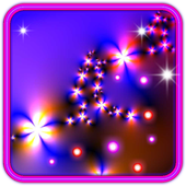 Flowers Neon Free 3D LWP icon