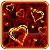 Rose Gold Hearts LWP icon