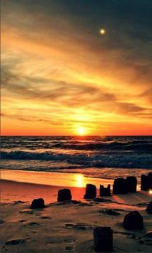 Sea Sunset live wallpaper poster