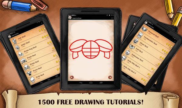 Learn To Draw Skull Tattoo screenshot 5