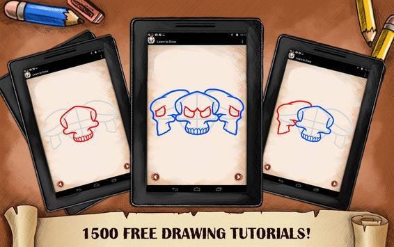 Learn To Draw Skull Tattoo screenshot 6