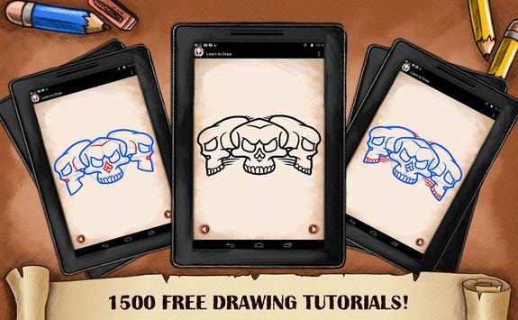 Learn To Draw Skull Tattoo screenshot 7