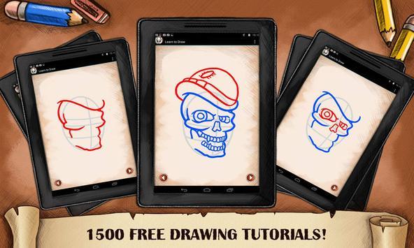 Learn To Draw Skull Tattoo screenshot 1