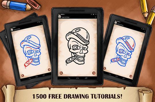 Learn To Draw Skull Tattoo screenshot 2