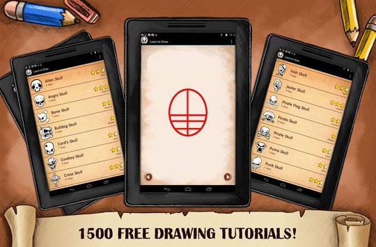 Learn To Draw Skull Tattoo screenshot 3