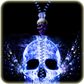 Skull Zip Screen Lock icon