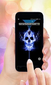 Skull Zip Screen Lock poster