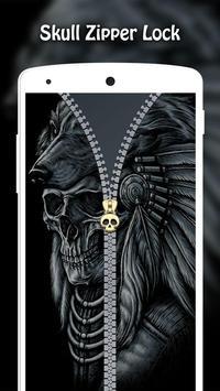 Skull Zipper Lock screenshot 10