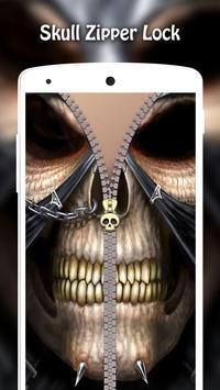 Skull Zipper Lock screenshot 12