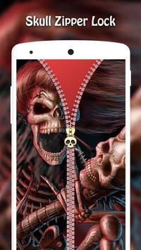Skull Zipper Lock screenshot 1