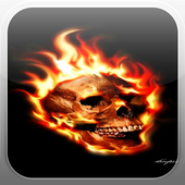 Skull Fire Flames LWP icon