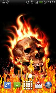 Skull Fire Flames LWP poster