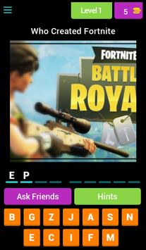 Fortnite Mini Quiz poster