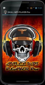 SKULL MP3 PLAYER Pro poster