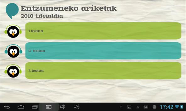 Euskara ikasiz 1.maila (beta) apk screenshot