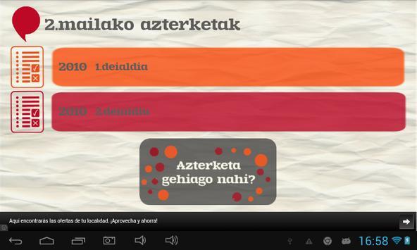 Euskara ikasiz 2.maila (beta) captura de pantalla 8