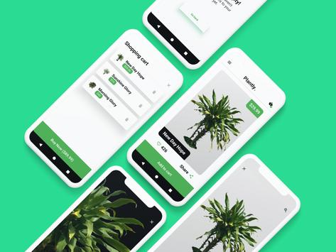 Plantly. Buy plants [App concept] poster