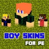 3D Boy Skins for Minecraft PE icon