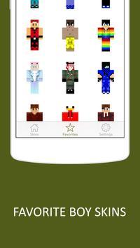 3D Boy Skins for Minecraft PE screenshot 3